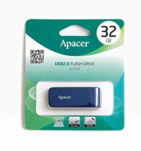 НОВЫЕ флешки Apacer 32 Gb, запечатаны