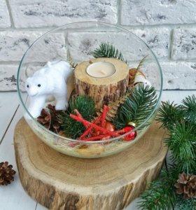 Свеча праздничный подарок