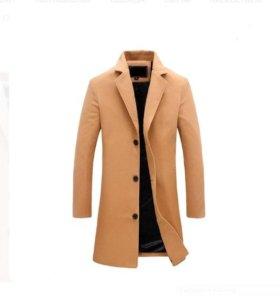 Классическое, легкое, однобортное пальто