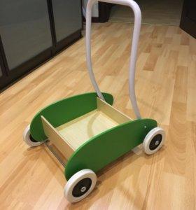 ИКЕА игрушка Мула тележка каталка ходунки