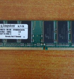 Оперативная память: Kingston KVR400X64C3A/256