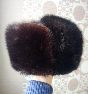 Продам отличную норковую шапку ( ушанку)
