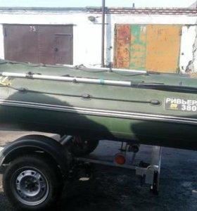 лодка пвх +мотор 30 л.с +прицеп