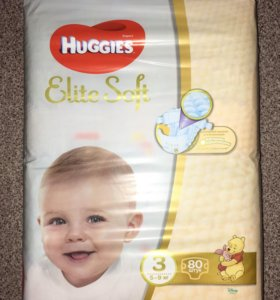 Huggies Elite Soft 3 ( 5-9 кг)