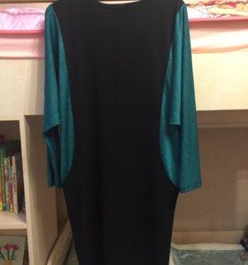 Платье с рукавом летучая мышь.