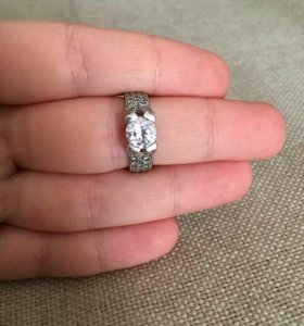 Кольцо серебро 925