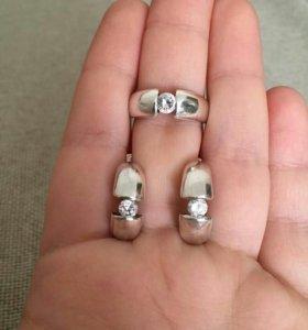 Комплект серебра 925