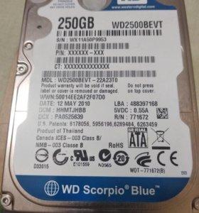 Жеский диск 250gb для ноутбука