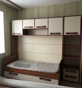 Кровать со шкафчиками (детская, подростковая)