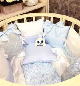 Пошив бортиков в детские кроватки