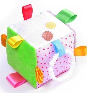 Кубик и мячик с разнофактурными петельками и