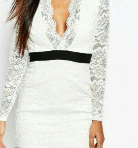 Нарядное кружевное платье