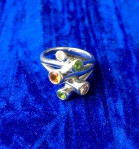 Кольцо серебро 925 р-р 16 б/у