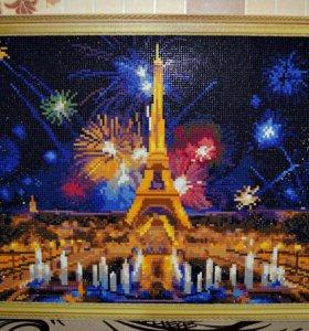 Картина алмазная мозайка Париж