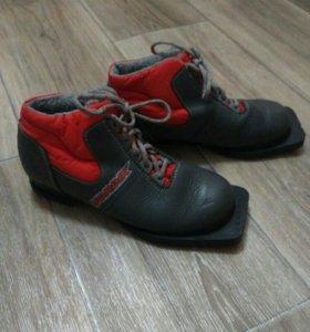 Лыжные ботинки. 35 размер.