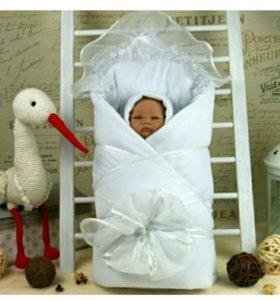 Конверт для новорожденных зимний
