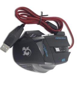 Игровая мышь с цв. подсветкой (6 кнопок, 2400 dpi)