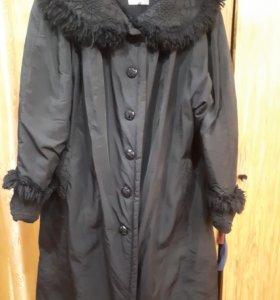 Пальто зимнее размер 62-64