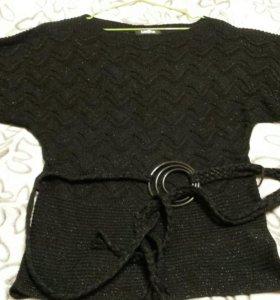 Блуза с поясом (новая)