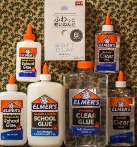 Elmer's клей для слаймов элмерс Elmers. Глина Soft