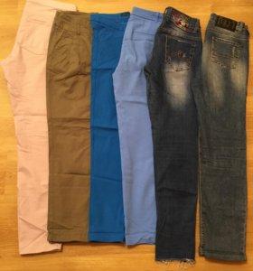 Брюки чинос, джинсы, лосины,