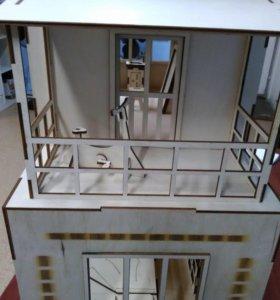 Комплект кукольный домик с мебелью