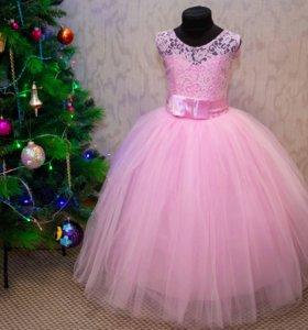 Пышные новогодние платья для девочек (6-8 лет)