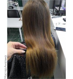 Ботокс волос и запаивание кончиков
