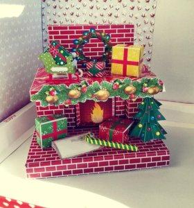Новогодние сладкие подарки, шоколад, конфеты
