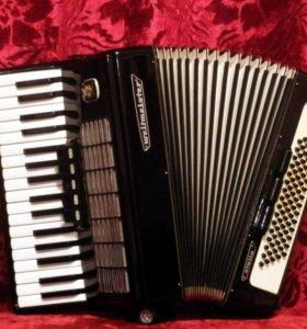 Прекрасный аккордеон weltmeister stella 3/4 чёрный