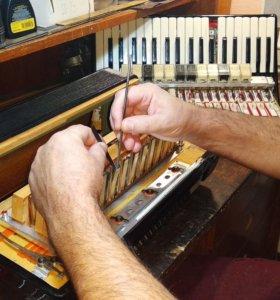 Настройка, ремонт аккордеона, баяна, гармонь.