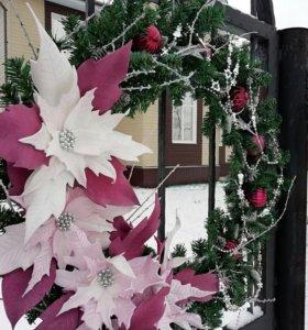Венок украшение декор на РождествоНовыйГод подарок