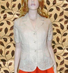 Пиджак из Льна новый, с вышивкой, на 42-44р