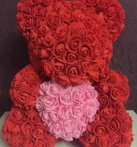 Медведи из 3д роз