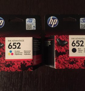 Картридж hp 652 color, 652 black
