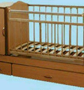 Детская кроватка - трансформер с маятником