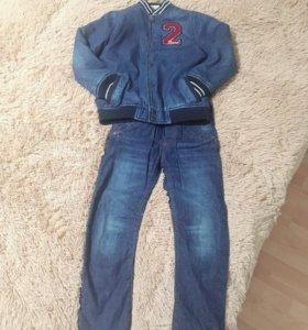 Бомбер+ джинсы для мальчика