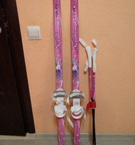 Лыжи с палками для детского сада