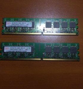 Оперативная Память Hynix 1gb 2rx8 pc2-5300u-555-12