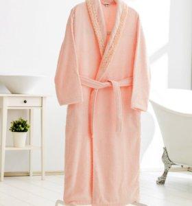 Красивый махровый халат. 100% хлопок. Турция.