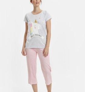 Забавная пижама с единорогом. Размер 46. Турция