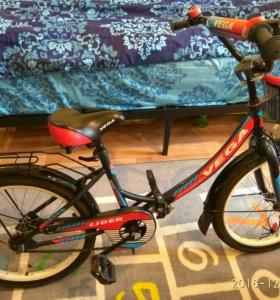 Складной велосипед 20дюймов с доп.колесами.