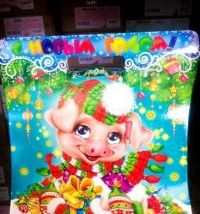 Конфеты в коробках на новый год
