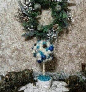Новогоднее топиарий-дерево счастья