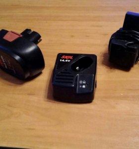 Зарядное устройство и аккумулятор SKIL 14.4 V