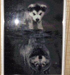 Картина стразами
