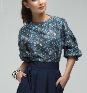 Платье синее с рукавом «летучая мышь» новое