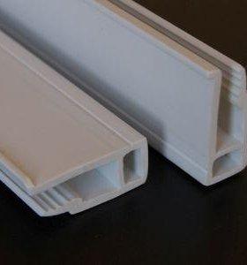Багет для натяжных потолков белый сверлёный