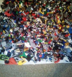 Детали Лего около 7кг +лего с коробкой и схемой.