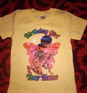 Новые детские футболки 1-6лет